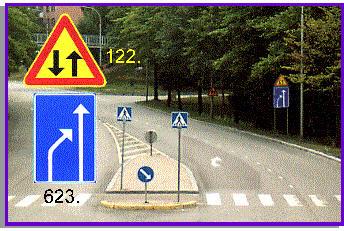 yksisuuntainen tie merkki